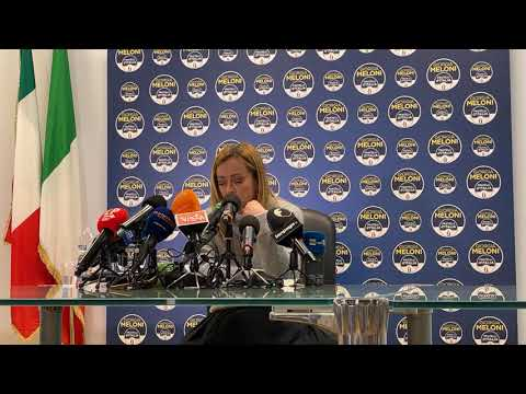 Seguite la conferenza stampa in diretta di Giorgia Meloni dopo le elezioni amministrative