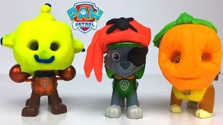 PAW PATROL PLAY-DOH FUN COSTUMES WITH CHASE ROCKY RUBBLE ZUMA MARSHALL RYDER AND SCARY STORYTIME