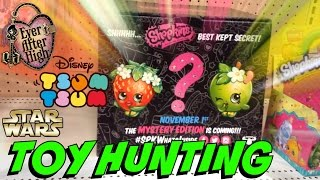 TOY HUNTING - Shopkins Mystery Edition and SHOPPIES EAH on sale!! Shopping VLOG and BIG ANNOUNCEMENT