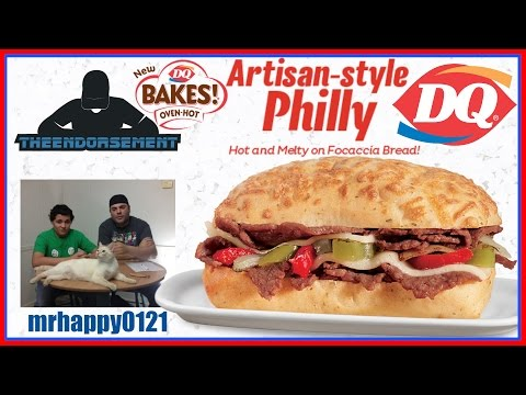 DAIRY QUEEN® - DQ BAKES! ARTISAN-STYLE PHILLY REVIEW W/ MRHAPPY0121