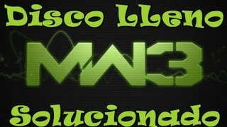 Disco Lleno Call of Duty Modern Warfare 3 ¡¡¡Solucionado!!