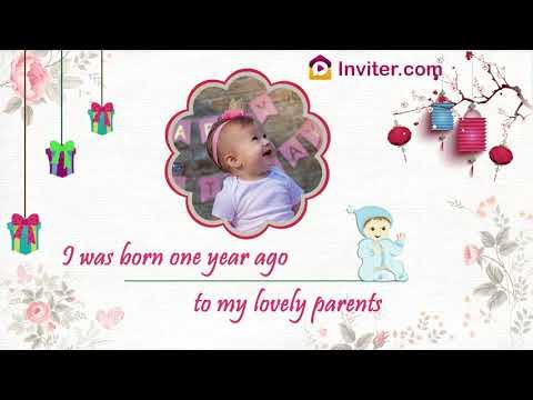 Latest First Birthday Invitation Video | New 2019 | Inviter.com