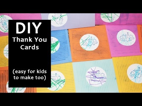 Diy Thank You Cards Easy For Kids To Make Too Youtube