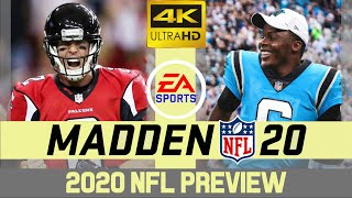 Atlanta Falcons @ Carolina Panthers - NFL 2020 Week 8 - Madden Simulation - 4K