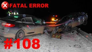 🚘🇷🇺[ONLY NEW] Russian Car Crash Road Accidents Compilation (17 January 2018) #108
