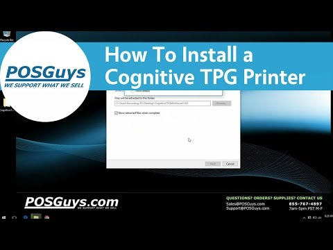 POSGuys How To: Install A Cognitive TPG Printer