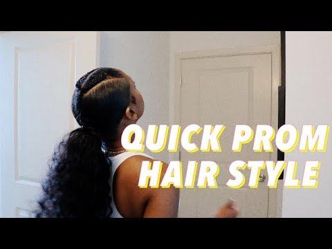 EASY SLEEK PROM HAIRSTYLE ft. Alipearl hair