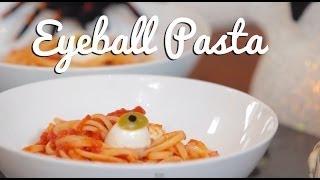Eyeballs, Blood & Worms Pasta - Crumbs Halloween