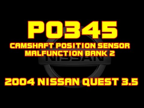 Nissan Altima 3.5 >> 2004 Nissan Quest - 3.5 - P0345 - Camshaft Position Sensor Malfunction Bank 1 - YouTube