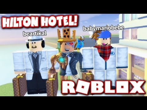 PLAYING WITH THE CREATORS OF HILTON HOTEL!! *BEARTIKAL & BABYMARIOBEBE VOICE REVEAL!* (Roblox)