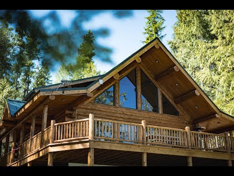 Lakeside Log Cabin  - Meadowlark Log Homes