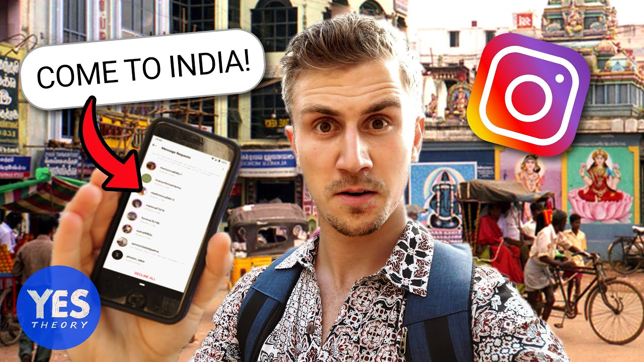 SAYING YES TO A CRAZY INSTAGRAM DM (Flew to INDIA!!) image