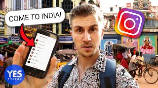 Download SAYING YES TO A CRAZY INSTAGRAM DM (Flew to INDIA!!) Mp3 and Videos