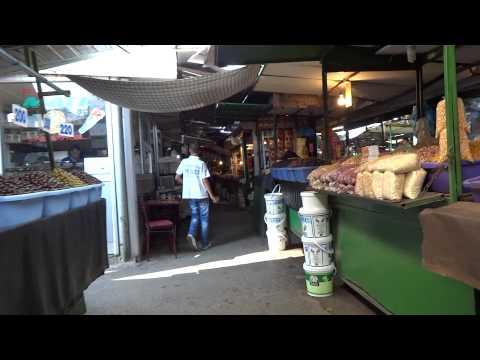 Walk through the market in Skopje, Macedonia