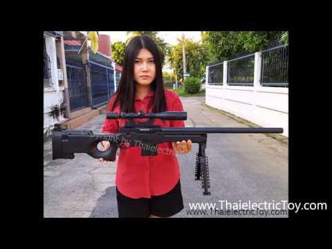 ปืนอัดลม Rifle AWP ความยาว 1 เมตร มาพร้อมกล้องเล็งติดเลเซอร์ ยิงแรง ราคา 890 บาท