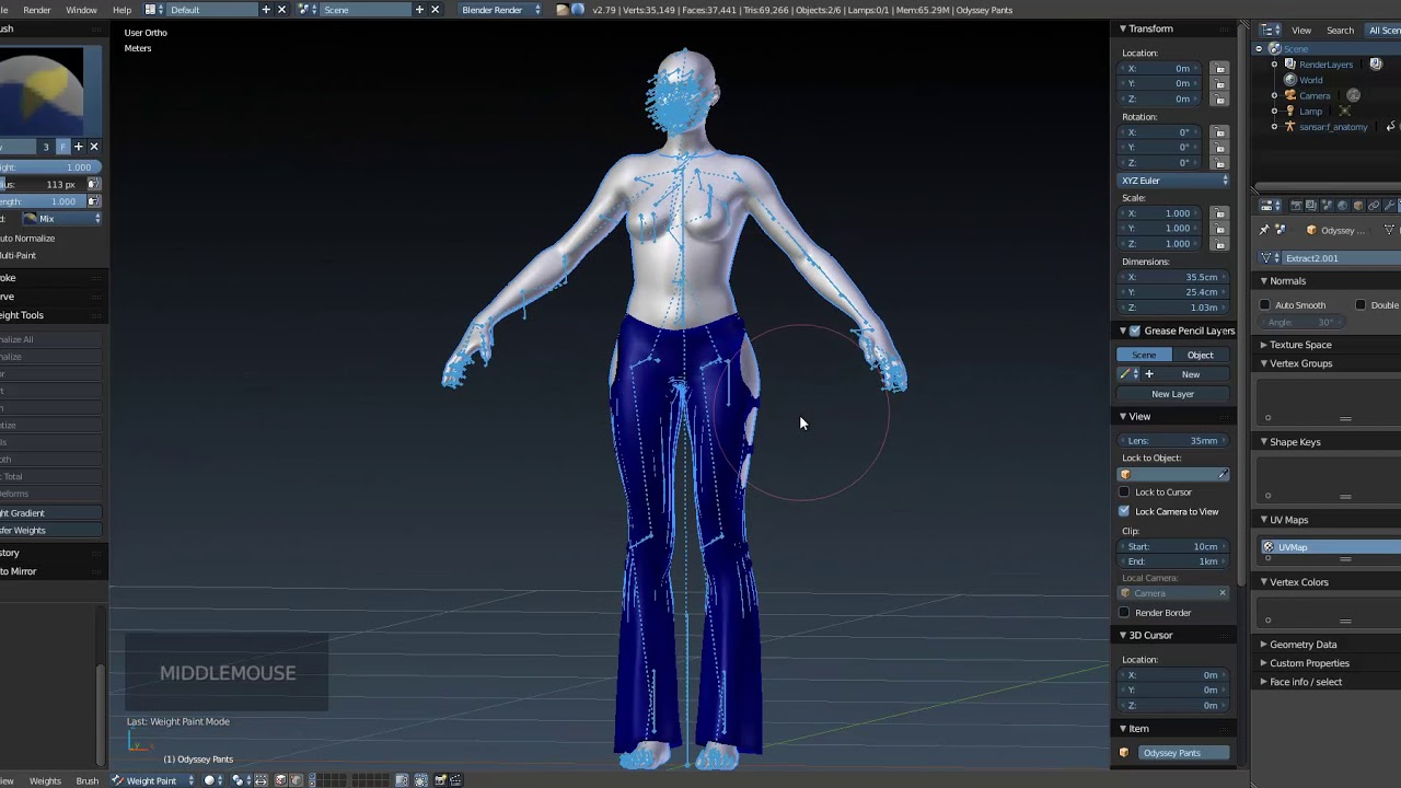 How to do the rigged for Sansar with Blender