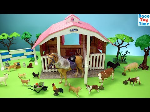 Horse Stable Breyer Playset and Toy Barn Farm Animals - Fun Toys For Kids