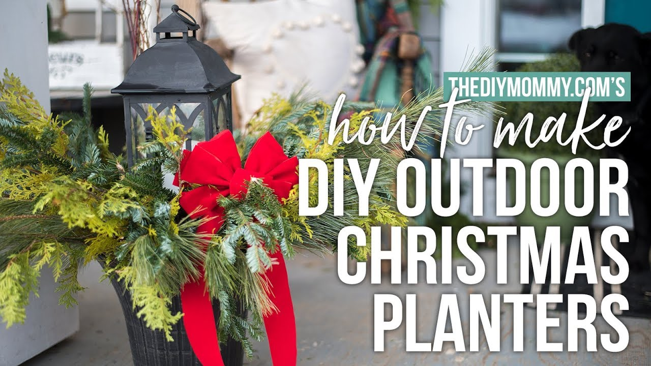 how to make outdoor christmas planters cheap easy arrangements the diy mommy