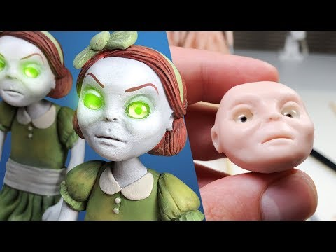 THEIR EYES FOLLOW YOU! Making Creepy Twins + 200K Giveaway! - Polymer Clay Sculpting Tutorial