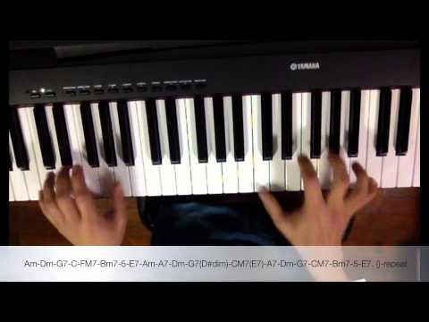 Advanced Piano Chord Lesson Basic Style Of Music Salsa Fly Me To
