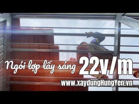 Ngói Lợp Lấy Sáng 22v/m Dùng Phù Hợp Các Sản Phẩm Ngói Lợp Viglacera Hạ Long, Đất Việt, Gốm Mỹ