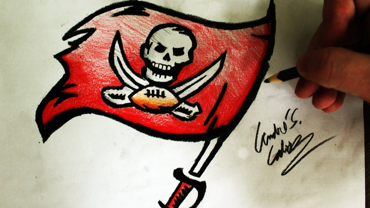 Como Desenhar A Logo Do Tampa Buccs Nfl Bay Buccaneers How To Draw Buccs Logo Nfl Logos 12 Youtube