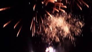 Dożynki dolnośląskie 2013, pokaz sztucznych ogni