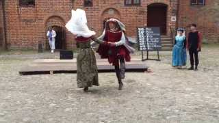 Saltarello. Medieval dance. Lithuanian dancers