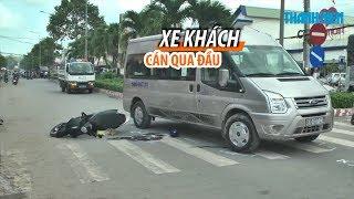 TRÀ VINH: Một phụ nữ đi xe tay ga bị xe khách cán qua đầu