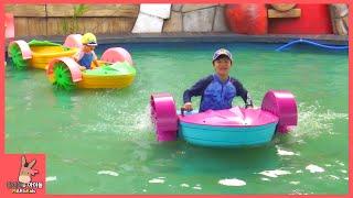 워터파크 물 위에서 자동차 타기 놀이 ♡ 어린이 코코몽 에코파크 키즈 카페 놀이공원 #2 Kid Car Playground Fun Play | 말이야와아이들 MariAndKids