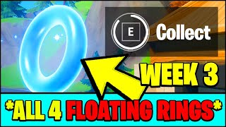 COLLECT FLOATING RINGS AT LAZY LAKE LOCATIONS (Fortnite Season 3 Week 3 Challenges)