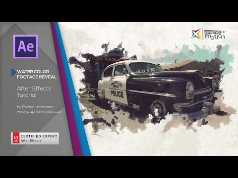 Watercolor Footage Reveal - After Effects Tutorial