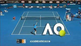 Tennis Elbow 2013 GAMEPLAY - Roger Federer vs Nick Kyrgios - AO TENNIS 2018 - GAMEPLAY