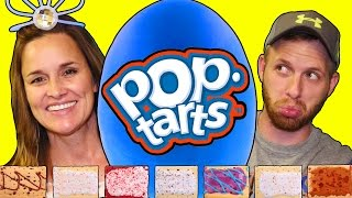 Giant POP TART Surprise Play Doh Egg Challenge, Eating Gross PopTarts DCTC