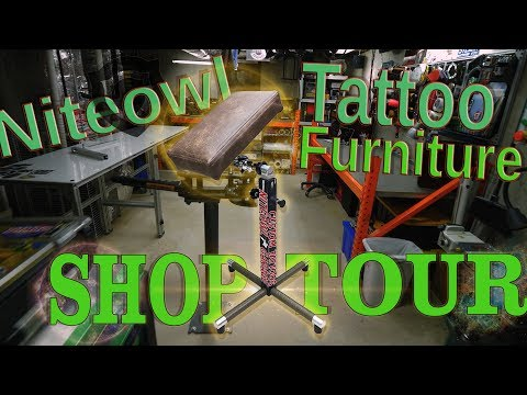 Small Space Shop Tour - Niteowl Tattoo Furniture