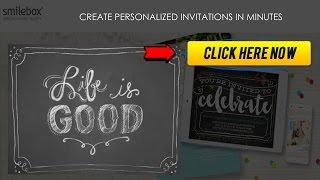 Smilebox - Create Personalized Invitations In Minutes - Personalized Birthday Invitations And More