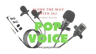 PoP Voice USA - Product Review - Lavalier Microphone Review 🎤