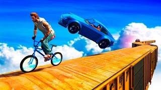 BMX ПРОТИВ ЛЕТАЮЩИХ МАШИН! (GTA 5 Смешные моменты)(BMX ПРОТИВ ЛЕТАЮЩИХ МАШИН! (GTA 5 Смешные моменты) GTA 5 Online - новая, безумная тропа смерти, на которой сойдутся..., 2016-12-30T04:00:16.000Z)
