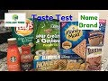 Taste Test Dollar Tree VS Name Brand Blindfolded!