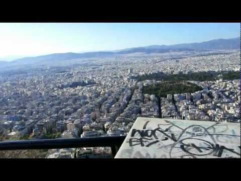 View from the top of Mount Lycabettus, in Athens, Greece