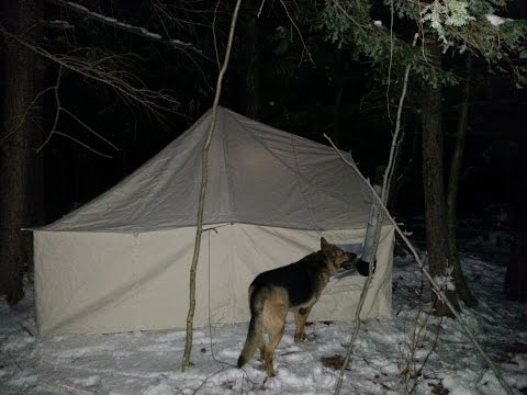 Winter Hot Tent Overnight