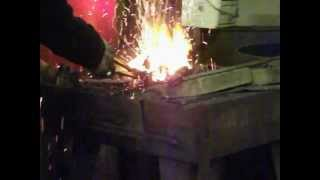 Dropping The Tongs, Forgewelding Decorative Tree Branch