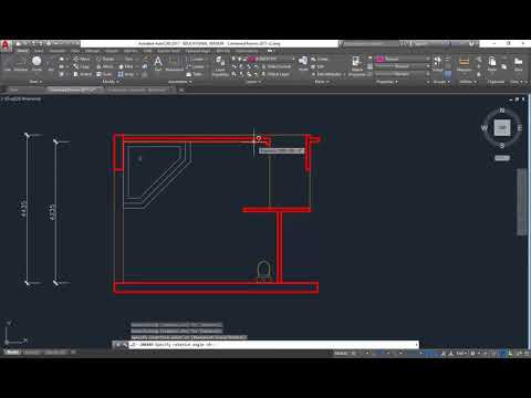 AutoCAD Bathroom Plan Inserting Blocks