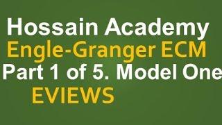 engle granger ecm model one part 1 of 5 eviews
