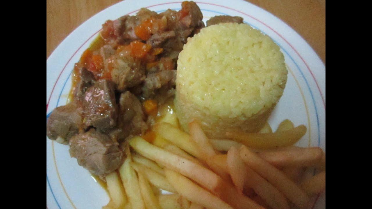 Guiso de carne de cerdo con arroz al curry 2 youtube - Guiso de carne de cerdo ...