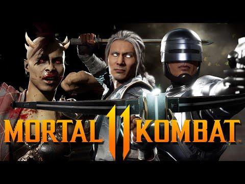 Mortal Kombat 11 Aftermath - All DLC Intros & Outros! (Fujin, RoboCop, Sheeva)