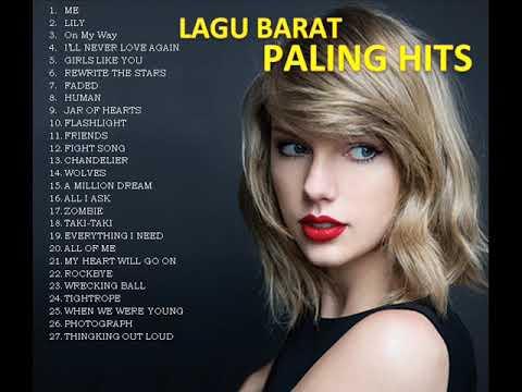 LAGU BARAT TERPOPULER (Taylor Swift, Alan Walker, Anne Marie, Maroon 5, Lady Gaga, Ed Sheeran)