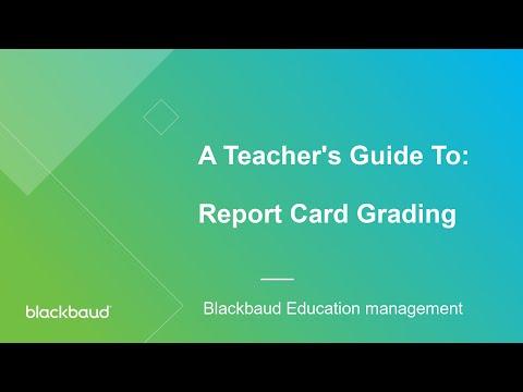 Report Card Grading
