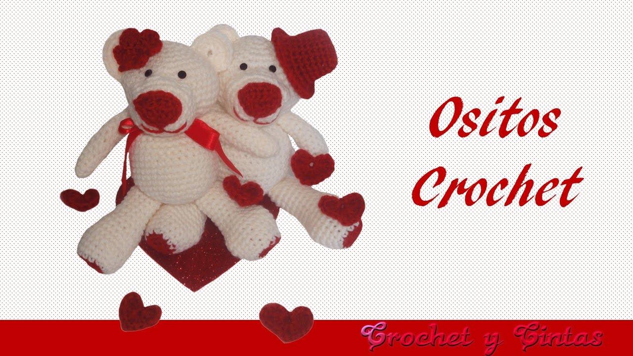 Osito Amigurumi - Crochet San Valentín - Parte 1 (Cabeza, cuerpo ...