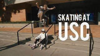 Skateboarding at USC (feat. Garrett Ginner) - EPISODE 74 - JUSTIN ESCALONA